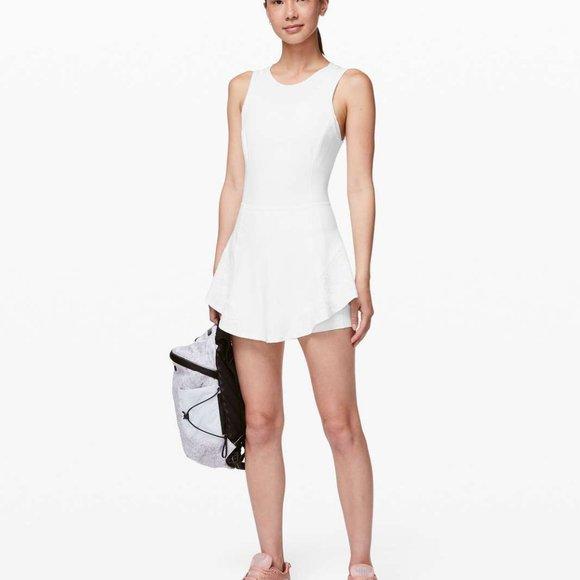 NWT Lululemon White Activewear Tennis Tank Dress